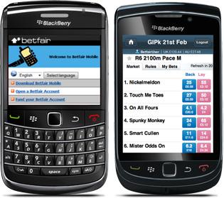 Blackberry Betting App