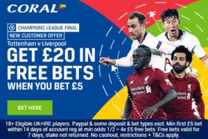 Champions League Final Betting Offer